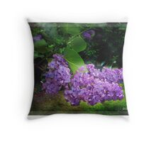 Lilac texturized Throw Pillow