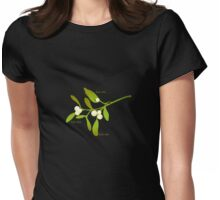 Kiss me mistletoe Womens Fitted T-Shirt