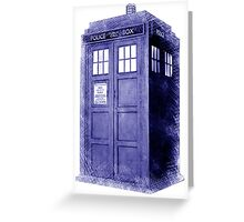 Blue Box Hoodie / T-shirt Greeting Card