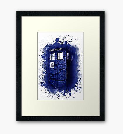 Scratch Blue Box Hoodie / T-shirt Framed Print