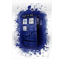 Scratch Blue Box Hoodie / T-shirt Poster