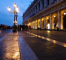 Night Falls on Piazza San Marco by UrsulaRodgers