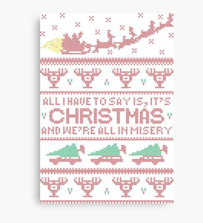Christmas Vacation Misery Canvas Print