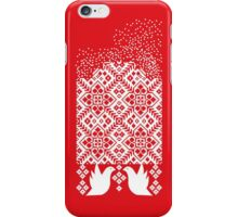 Norwegian snow red iPhone Case/Skin