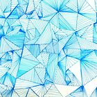 Blue Cubism by kathleenmarie