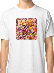 Daylily Drama - a floral illustration pattern Classic T-Shirt