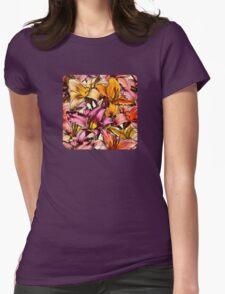 Daylily Drama - a floral illustration pattern T-Shirt