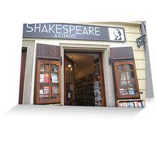 shakespeare in prague Greeting Card