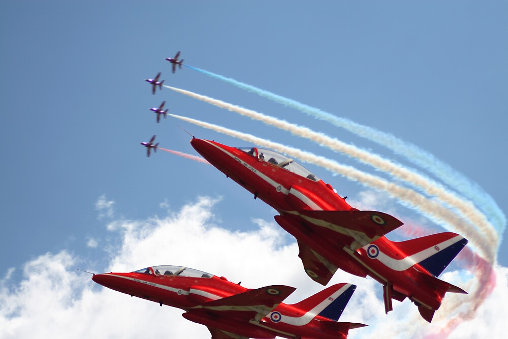 Red Arrows by Adrian Richardson