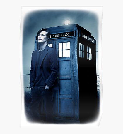 doctor smith tee Tardis Hoodie / T-shirt Poster