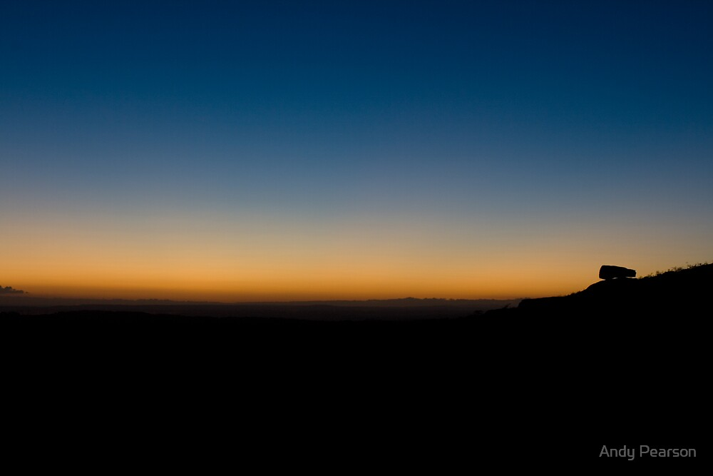 Last light over Dartmoor by Andy Pearson