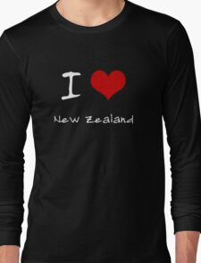 I love Heart New Zealand Long Sleeve T-Shirt