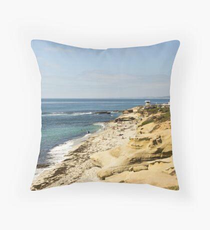 Pacific Beach Throw Pillow