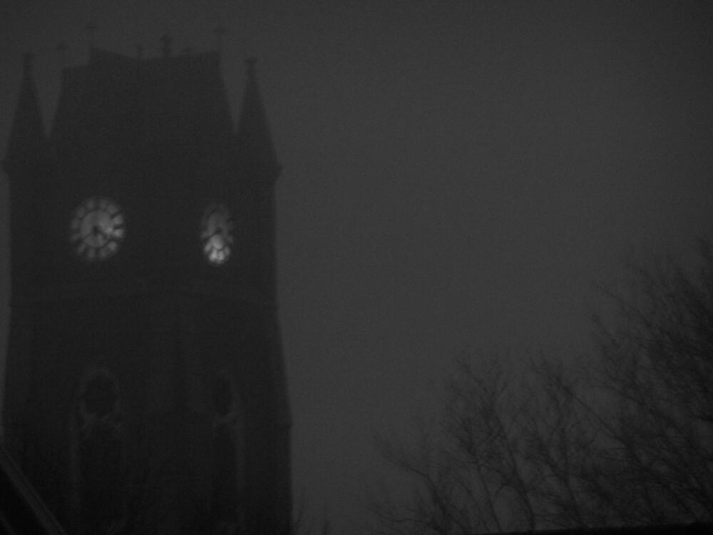 Church in fog by missliz