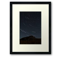 Sheeps Tor at Night Framed Print