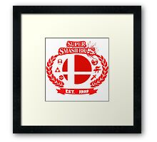 Smash Bros Framed Print