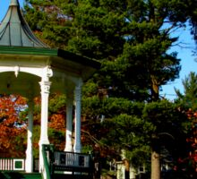 Gazebo at Hoopes Park, Auburn, New York Sticker