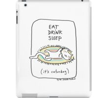 Eat drink sleep / Cat doodle iPad Case/Skin