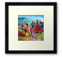 Sea houses. Gardenstown. Framed Print