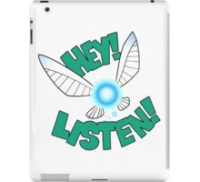 "Legend of Zelda: Ocarina of Time - Navi ""Hey! Listen!"" iPad Case/Skin"