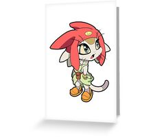 Space Dandy - Meow Greeting Card