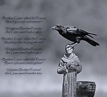 St. Francis and Brother Crow by Bonnie T.  Barry