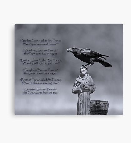 St. Francis and Brother Crow Canvas Print