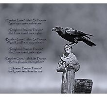 St. Francis and Brother Crow Photographic Print