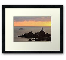 Condor Vitesse passing La Corbiere Lighthouse Framed Print