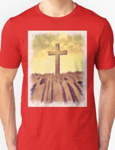 Christian Cross On Mountain Unisex T-Shirt