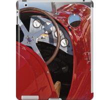 1939 Maserati Race Car 'Driver's Compartment Detail' iPad Case/Skin