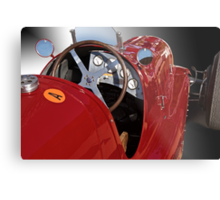1939 Maserati Race Car 'Driver's Compartment Detail' Metal Print