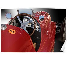 1939 Maserati Race Car 'Driver's Compartment Detail' Poster