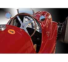 1939 Maserati Race Car 'Driver's Compartment Detail' Photographic Print