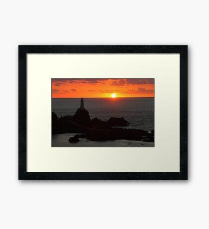La Corbiere Lighthouse Sunset Framed Print