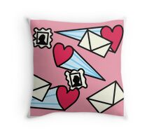 Love Letters Illustration Throw Pillow