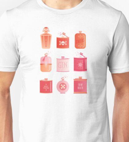 Flask Collection – Pink/Peach Ombré Palette Unisex T-Shirt