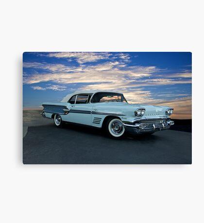 1958 Pontiac Bonneville Convertible Canvas Print