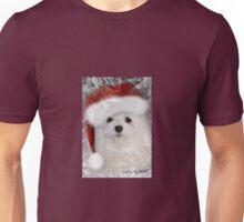 Snowdrop the Maltese Christmas Card Unisex T-Shirt