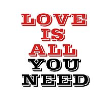 The Beatles Song Lyrics Famous All You Need Is Love Peace Rock Music Photographic Print