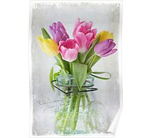 Tulips in a Jar Poster