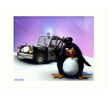 Penguin Police Art Print