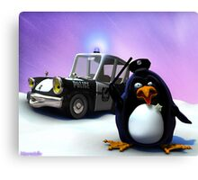 Penguin Police Canvas Print