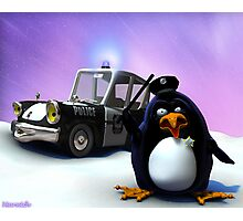 Penguin Police Photographic Print