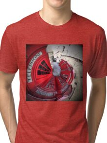 Telephone boxes in a spin Tri-blend T-Shirt