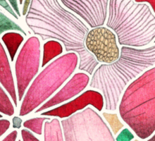 Blossoming - a hand drawn floral pattern Sticker