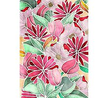 Blossoming - a hand drawn floral pattern Photographic Print
