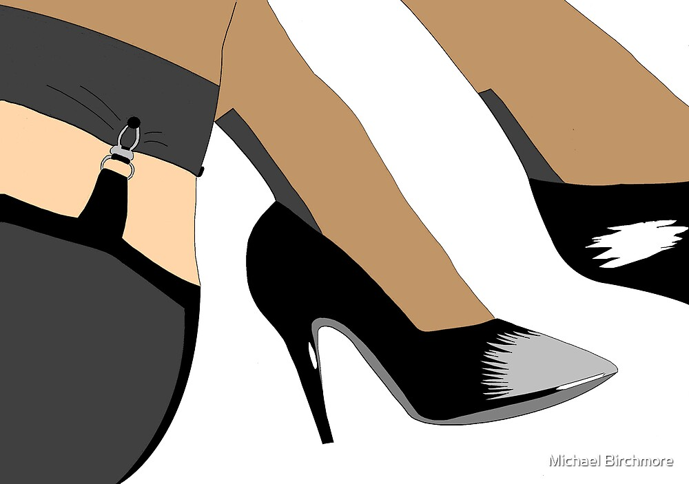 Stockings and heels by Michael Birchmore