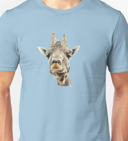 Funny Face Giraffe Unisex T-Shirt