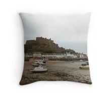 Mont Orgueil Castle, Gorey Throw Pillow